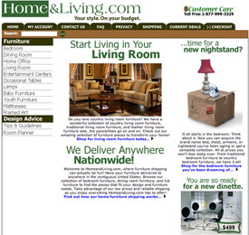 Home and Living website